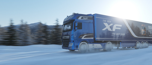 Automotive 3D render van een truck DAF XF