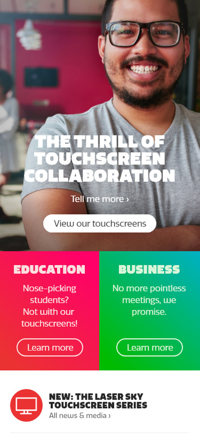 Ctouch Craft Responsive website Mobile view Homepage