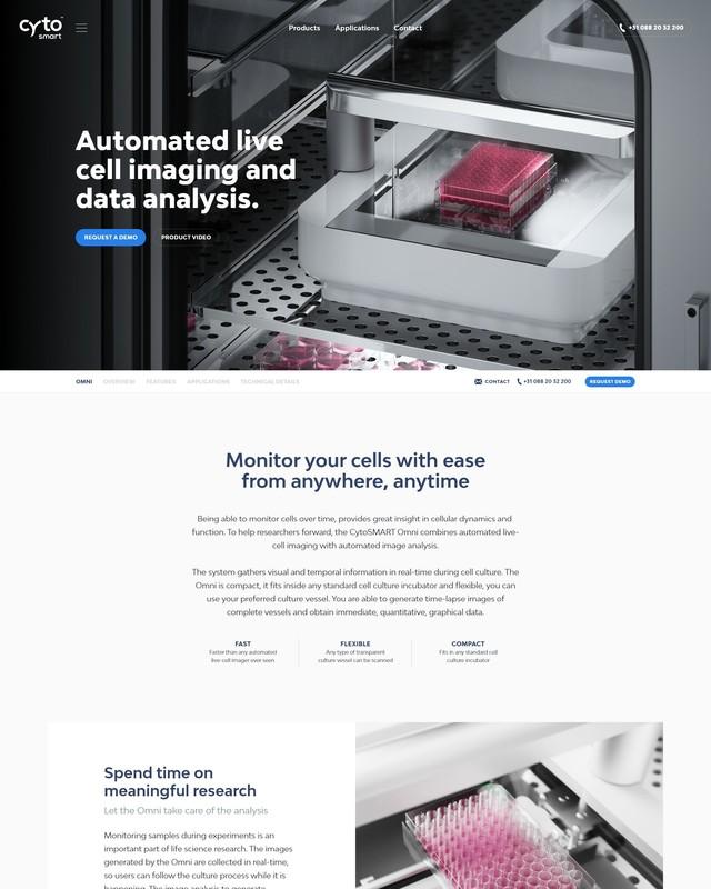 Cyto SMART Craft website Product detail header Omni