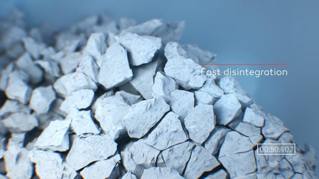 DFE Pharma Super Tab 50 ODT Fast disintegration 3 D animation