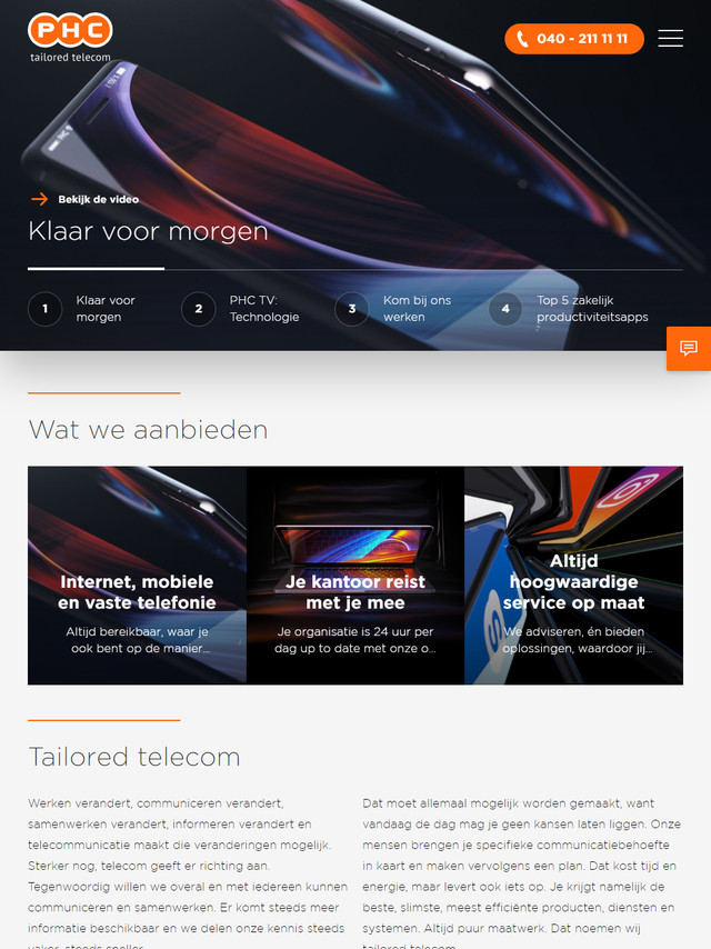 Homepage Tablet