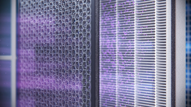 Philips Mario Air Purifier close up of purifying air