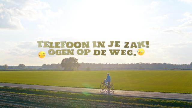 Telefoon in je zak Ogen op de weg Stichting Yannick Eindshot