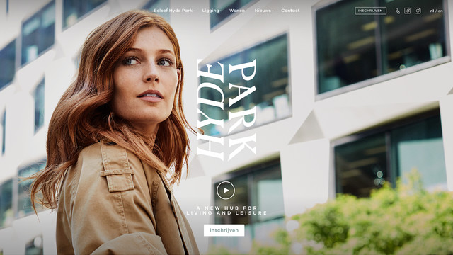 Webdesign Hyde Park homepage