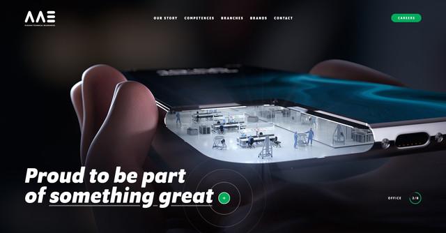 AAE Website homepage desktop