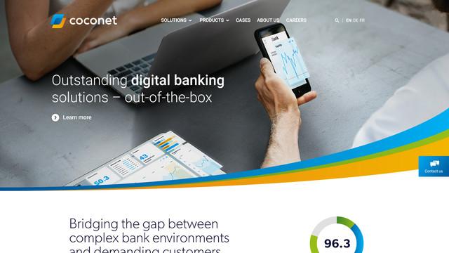 Coconet wordpress website homepage