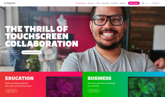Ctouch Craft Responsive website Homepage header