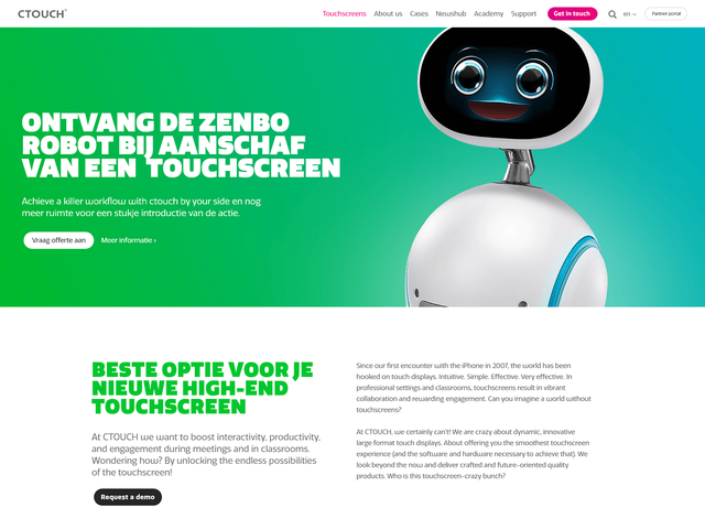 Ctouch Craft Responsive website Tablet view