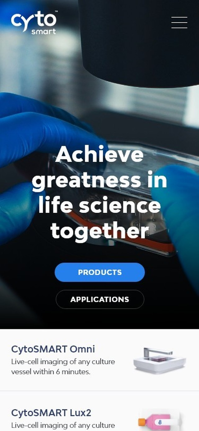 Cyto SMART Craft website Mobile Homepage header
