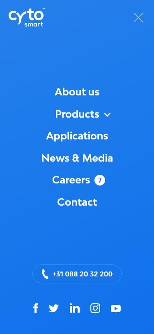 Cyto SMART Craft website Mobile Overlay Menu