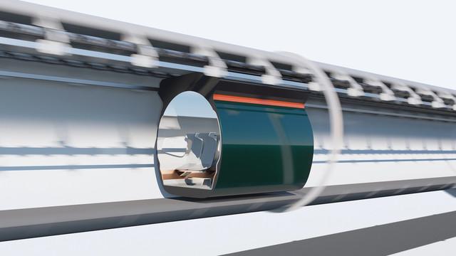 Hardt Hyperloop 3D visualisatie en animatie 07 doorsnede
