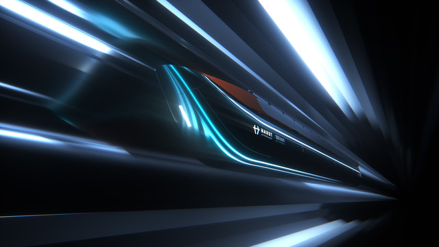 Hardt - Hyperloop - Key Art 02 - 3D render abstract