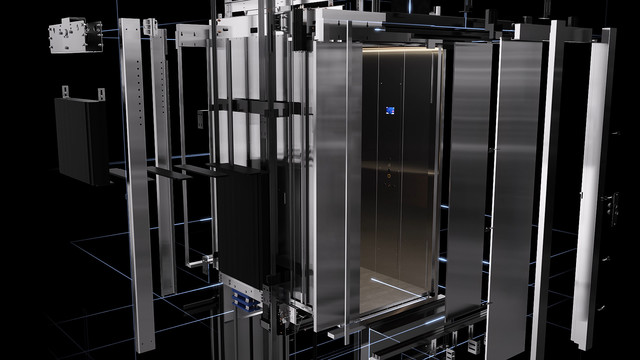Mitsubishi Elevator Europe MOVE 05 3D animation exploded view