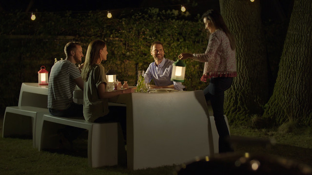 Philips Abelia LED Portable Lantern draagbaar voor aan de tafel