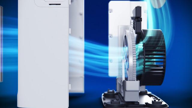 Philips Mario Air Purifier purifying air 3 D render