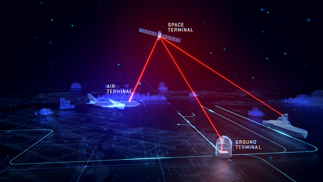 TNO Worldwide High Speed Laser Satellite Communication Map Opening