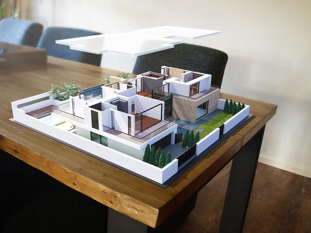 Augmented Reality - AR - Villa projectie op locatie 002