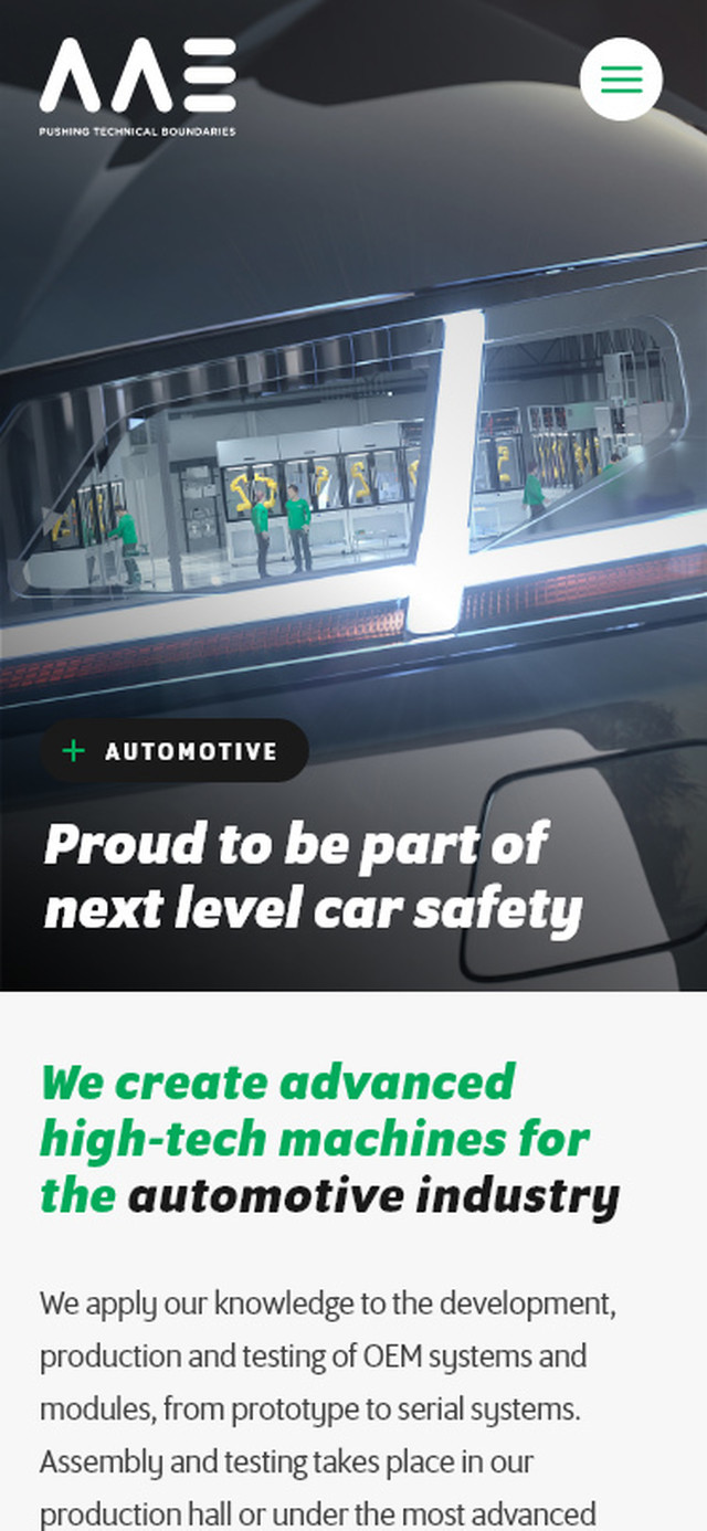 AAE Mobile view Automotive