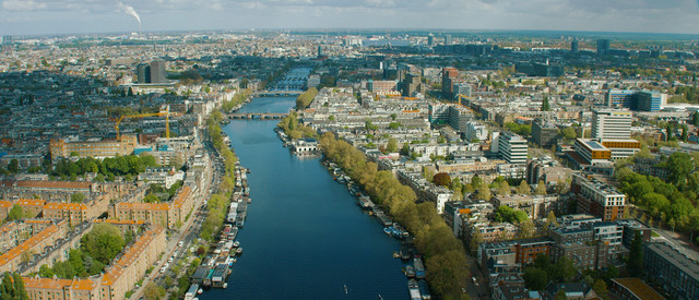 Hyde Park Amsterdam Aerial Kanaal