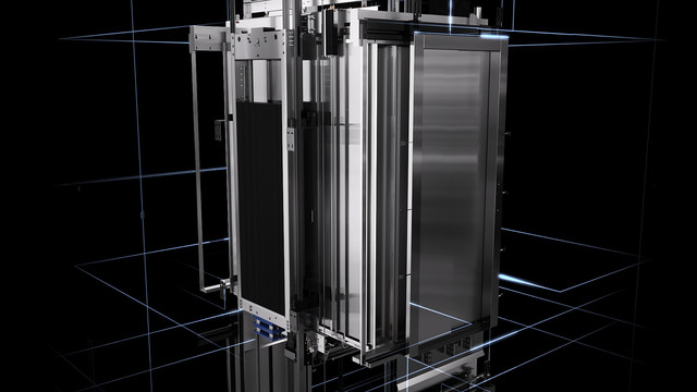 Mitsubishi Elevator Europe MOVE 04 3 D animation technical render