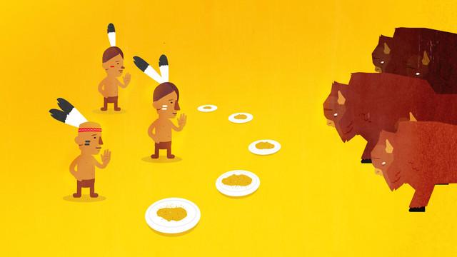 TNO DWLD slacktivisme karakter animatie Presenting food